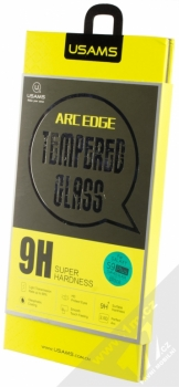 USAMS Arc Edge Tempered Glass ochranné tvrzené sklo na kompletní zahnutý displej pro Samsung Galaxy S9 Plus černá (black) krabička