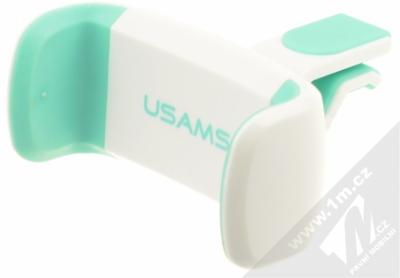 USAMS C Series Car Holder univerzální držák do mřížky ventilace v automobilu pro mobilní telefon, mobil, smartphone bílo zelená (white mint)