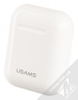 USAMS LU Wireless Bluetooth 5.0 Earphones headset stereo sluchátka bílá (white) pouzdro