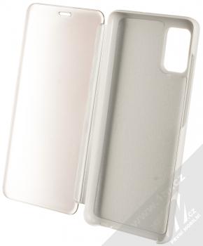 Vennus Clear View flipové pouzdro pro Samsung Galaxy A51 stříbrná (silver) otevřené