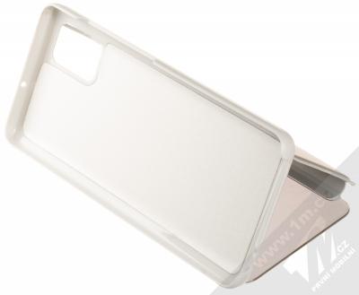 Vennus Clear View flipové pouzdro pro Samsung Galaxy A51 stříbrná (silver) stojánek