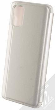 Vennus Clear View flipové pouzdro pro Samsung Galaxy A51 stříbrná (silver) zezadu