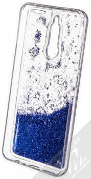 Vennus Liquid Glitter ochranný kryt s přesýpacím efektem třpytek pro Xiaomi Redmi 8 modrá (blue) zepředu