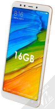 XIAOMI REDMI 5 2GB/16GB Global Version CZ LTE zlatá (gold) šikmo zepředu