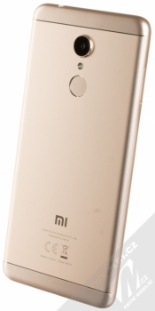 XIAOMI REDMI 5 2GB/16GB Global Version CZ LTE zlatá (gold) šikmo zezadu