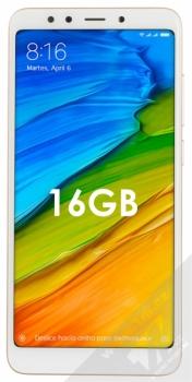 XIAOMI REDMI 5 2GB/16GB Global Version CZ LTE zlatá (gold) zepředu