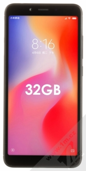 XIAOMI REDMI 6 3GB/32GB Global Version CZ LTE černá (black) zepředu