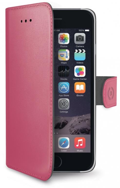 Celly Wally kožené pouzdro pro Apple iPhone 6 Plus růžová (fuchsia ... ff0f766778b