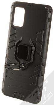 1Mcz Armor Ring odolný ochranný kryt s držákem na prst pro Samsung Galaxy A51 černá (black) otevřené