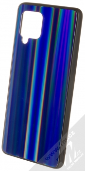 1Mcz Aurora Glass Cover ochranný kryt pro Samsung Galaxy A42 5G měnivě modrá (iridescent blue)