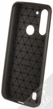 1Mcz Carbon TPU ochranný kryt pro Moto G8 Power Lite černá (black) zepředu