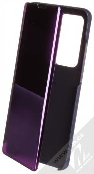 1Mcz Clear View flipové pouzdro pro Huawei P40 Pro fialová (purple)