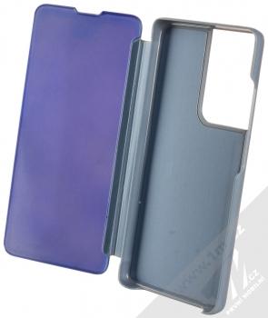 1Mcz Clear View flipové pouzdro pro Samsung Galaxy S21 Ultra modrá (blue) otevřené