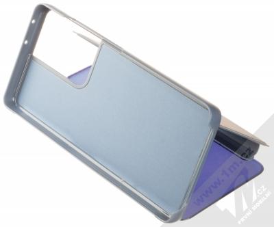 1Mcz Clear View flipové pouzdro pro Samsung Galaxy S21 Ultra modrá (blue) stojánek