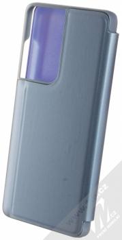 1Mcz Clear View flipové pouzdro pro Samsung Galaxy S21 Ultra modrá (blue) zezadu