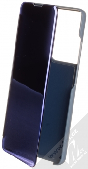 1Mcz Clear View flipové pouzdro pro Samsung Galaxy S21 Ultra modrá (blue)