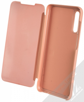 1Mcz Clear View flipové pouzdro pro Samsung Galaxy A70 růžová (pink) otevřené