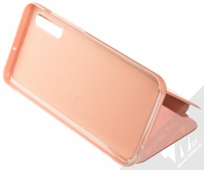 1Mcz Clear View flipové pouzdro pro Samsung Galaxy A70 růžová (pink) stojánek
