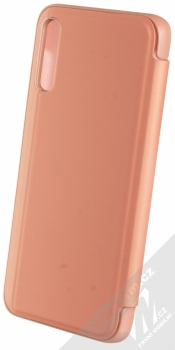 1Mcz Clear View flipové pouzdro pro Samsung Galaxy A70 růžová (pink) zezadu