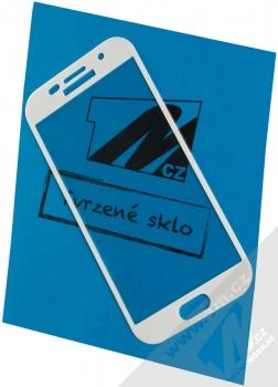 1Mcz Curved Edge Glass 5D ochranné tvrzené sklo na kompletní displej se zahnutím po obvodu pro Samsung Galaxy A5 (2017) bílá (white)