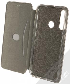 1Mcz Elegance Book flipové pouzdro pro Huawei Y6p kovově šedá (steel) otevřené