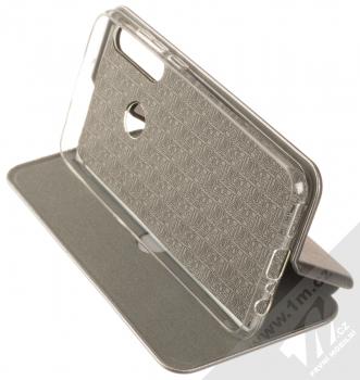 1Mcz Elegance Book flipové pouzdro pro Huawei Y6p kovově šedá (steel) stojánek