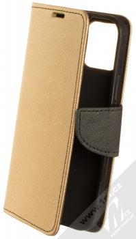 1Mcz Fancy Book flipové pouzdro pro Apple iPhone 12, iPhone 12 Pro zlatá černá (gold black)