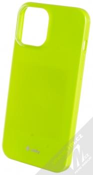 1Mcz Jelly TPU ochranný kryt pro Apple iPhone 12 Pro Max limetkově zelená (lime green)