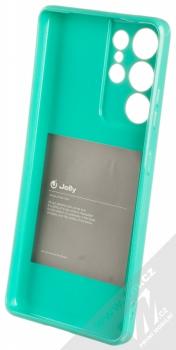 1Mcz Jelly TPU ochranný kryt pro Samsung Galaxy S21 Ultra mátově zelená (mint green) zepředu