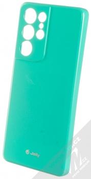 1Mcz Jelly TPU ochranný kryt pro Samsung Galaxy S21 Ultra mátově zelená (mint green)
