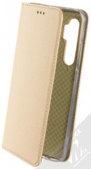 1Mcz Magnet Book flipové pouzdro pro Xiaomi Mi Note 10 Lite zlatá (gold)