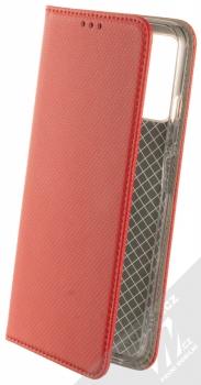 1Mcz Magnet Book flipové pouzdro pro Xiaomi Redmi Note 10 5G, Poco M3 Pro červená (red)