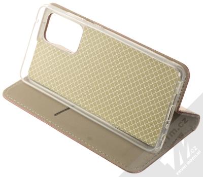 1Mcz Magnetic Book flipové pouzdro pro Samsung Galaxy A52, Galaxy A52 5G tmavě červená (dark red) stojánek