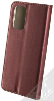 1Mcz Magnetic Book flipové pouzdro pro Samsung Galaxy A52, Galaxy A52 5G tmavě červená (dark red) zezadu