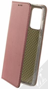 1Mcz Magnetic Book flipové pouzdro pro Samsung Galaxy A52, Galaxy A52 5G, Galaxy A52s 5G tmavě červená (dark red)