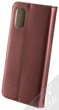 1Mcz Magnetic Book flipové pouzdro pro Samsung Galaxy A41 tmavě červená (dark red) zezadu