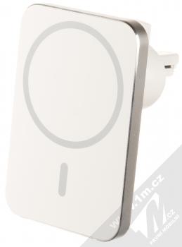 1Mcz MagSafe Car Vent Mount 15W držák s bezdrátovým nabíjením do mřížky ventilace automobilu bílá stříbrná (white silver)