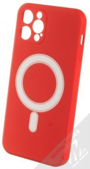 1Mcz MagSilicone TPU ochranný kryt s MagSafe pro Apple iPhone 12 Pro červená (red)