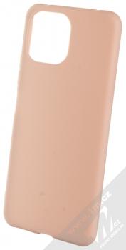1Mcz Matt TPU ochranný silikonový kryt pro Xiaomi Mi 11 Lite, Mi 11 Lite 5G světle růžová (powder pink)