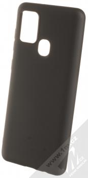 1Mcz Matt TPU ochranný silikonový kryt pro Samsung Galaxy A21s černá (black)