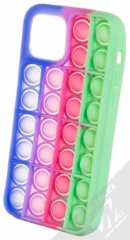 1Mcz Pop It antistresový ochranný kryt pro Apple iPhone 12, iPhone 12 Pro modrá fialová zelená (blue purple green)