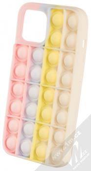 1Mcz Pop It antistresový ochranný kryt pro Apple iPhone 12 Pro Max růžová šedá žlutá béžová (pink grey yellow beige)