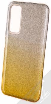 1Mcz Shining Duo TPU třpytivý ochranný kryt pro Huawei P Smart (2021) stříbrná zlatá (silver gold)