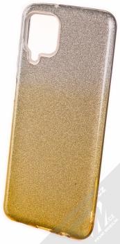 1Mcz Shining Duo TPU třpytivý ochranný kryt pro Samsung Galaxy A12, Galaxy M12 stříbrná zlatá (silver gold)