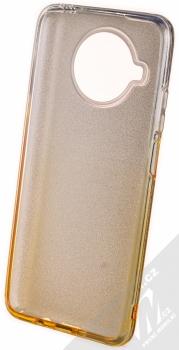 1Mcz Shining Duo TPU třpytivý ochranný kryt pro Xiaomi Mi 10T Lite 5G stříbrná zlatá (silver gold) zepředu
