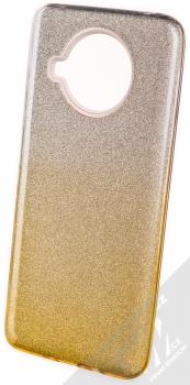 1Mcz Shining Duo TPU třpytivý ochranný kryt pro Xiaomi Mi 10T Lite 5G stříbrná zlatá (silver gold)