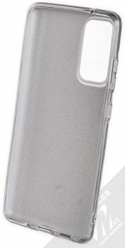 1Mcz Shining TPU třpytivý ochranný kryt pro Samsung Galaxy S20 FE stříbrná (silver) zepředu