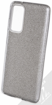 1Mcz Shining TPU třpytivý ochranný kryt pro Samsung Galaxy S20 FE, Galaxy S20 FE 5G stříbrná (silver)