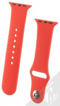 1Mcz Silikonový sportovní řemínek pro Apple Watch 38mm, Watch 40mm červená (red)