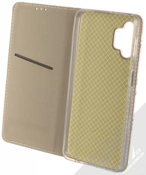 1Mcz Trendy Book Keřík růží 1 flipové pouzdro pro Samsung Galaxy A32 5G bílá (white) otevřené